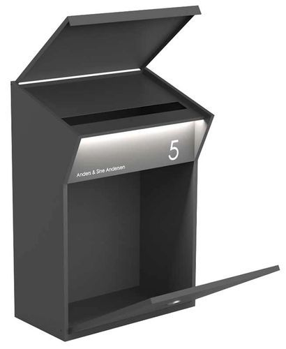 Allux Series Mailboxes Elegant Large Capacity Are Handcrafted By A State Of The Art High Quality Ste Steel Mailbox Post Box Wall Mounted Wall Mount Mailbox
