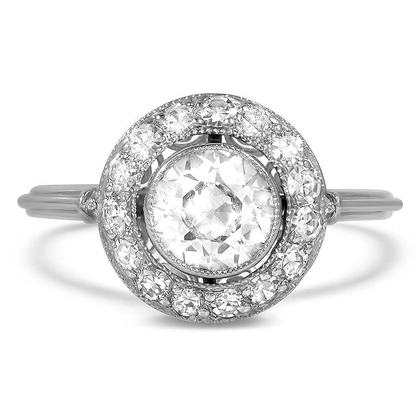 2ba9baf55 Platinum The Rubira Ring | Jewelry | Wedding rings vintage, Round ...