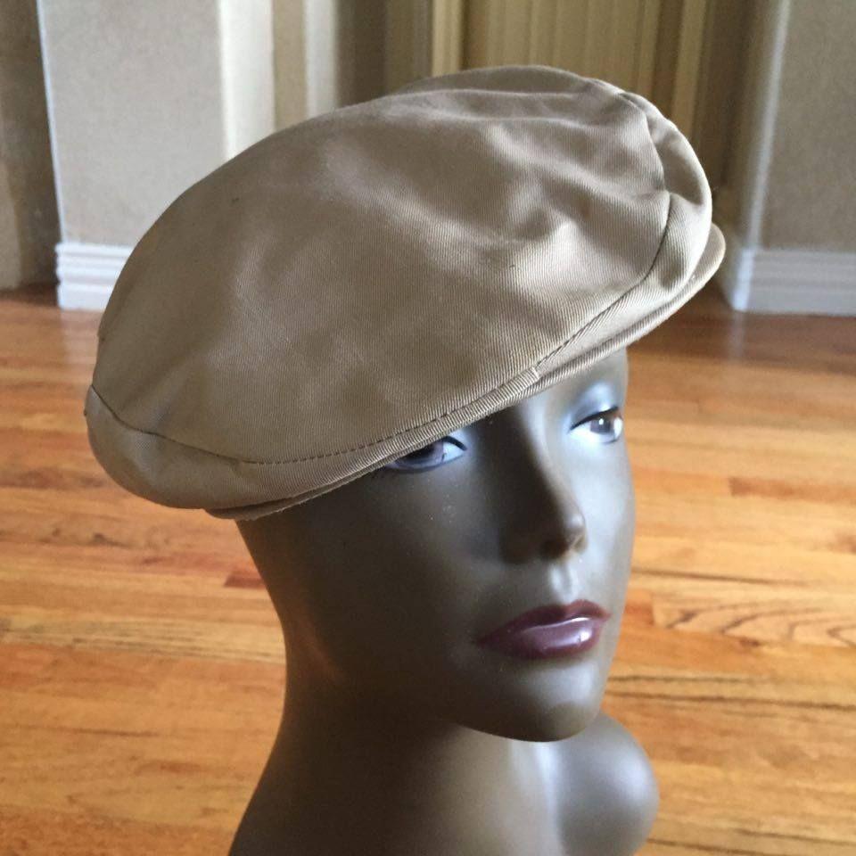 cd4267da0cc Vintage 1960s Burberry Kangol Style Newsboy Cap Hat w Nova Check Interior L   Burberry  Kangol