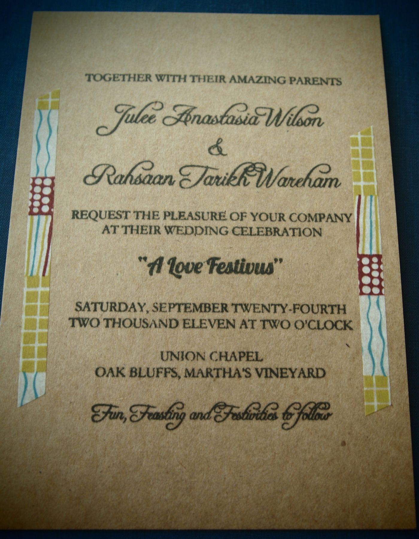 Diy wedding invitation idea real simple wedding ideas