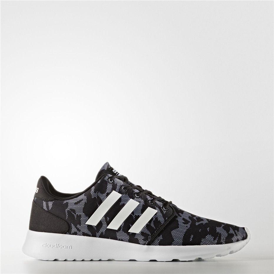 Adidas Cloudfoam QT Racer Shoes (Core Black   Running White   Black ... 4694ea6e535eb