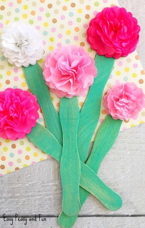 Tissue paper flower craft flowers pinterest flower crafts tissue paper flower craft flowers pinterest flower crafts tissue paper and flower mightylinksfo