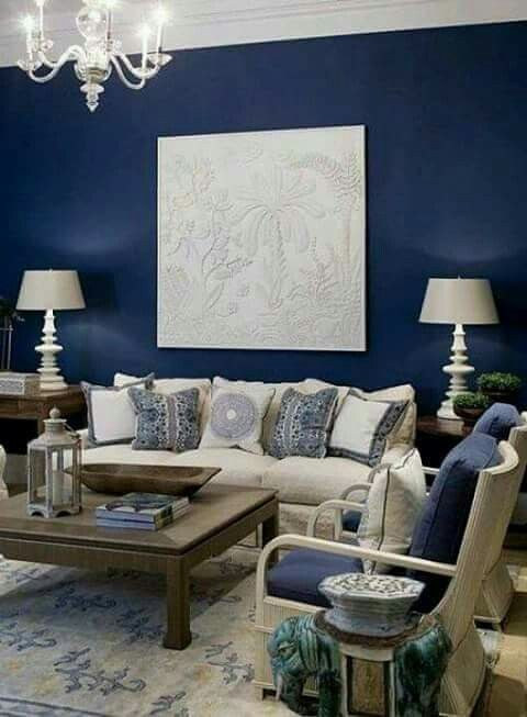 Pin On Blue And White #paint #colors #for #living #room #with #blue #furniture