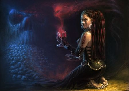 Beautiful African Witch | African Magic - 3D and CG & Abstract Background Wallpapers on Desktop ...