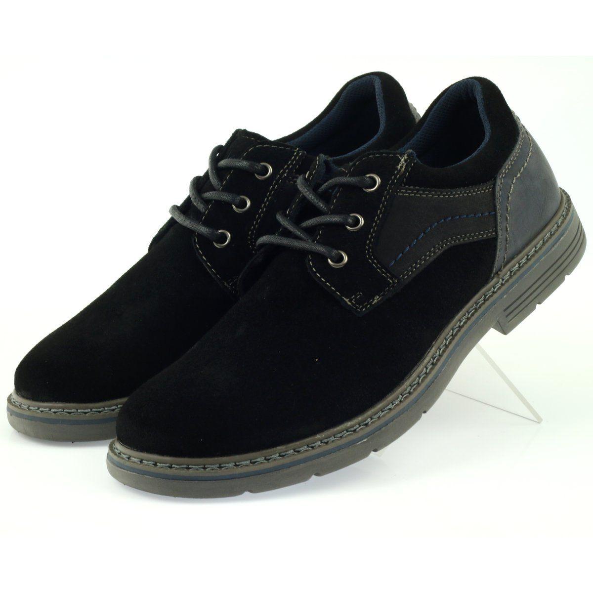 Mckey Polbuty Meskie Zamszowe 285 Czarne Granatowe Mens Boots Fashion Suede Shoes Men Men Suede