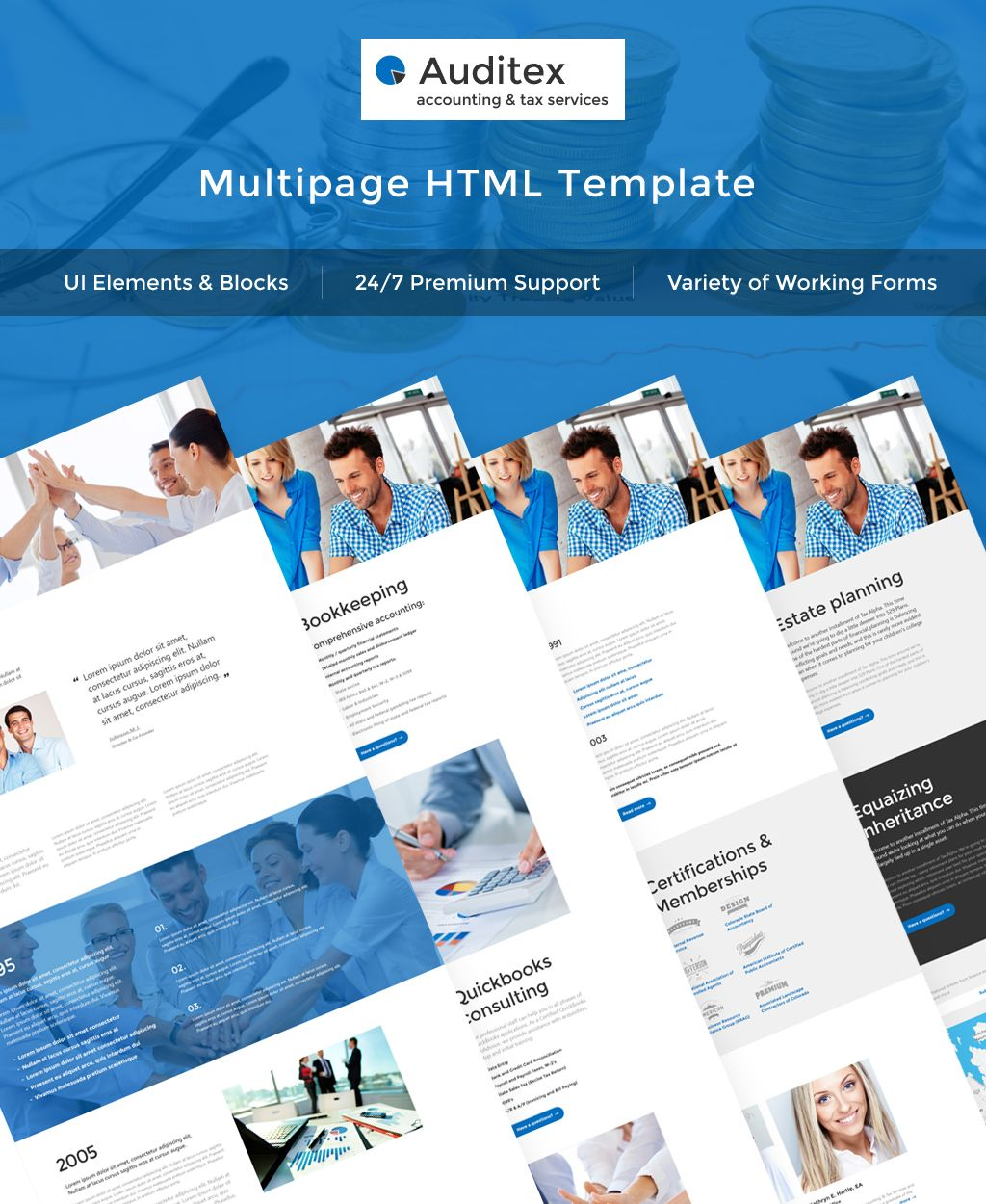 auditex accounting and tax services multipage website template