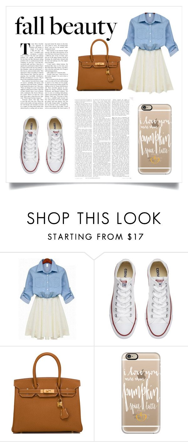 """fall"" by a-hidden-secret ❤ liked on Polyvore featuring Converse, Hermès and Casetify"