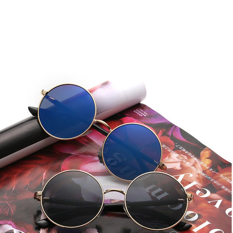 9e5db5142c3c9 Men Vintage Polarized John Lennon Sunglasses Hippie Retro Round Mirrored  Glasses