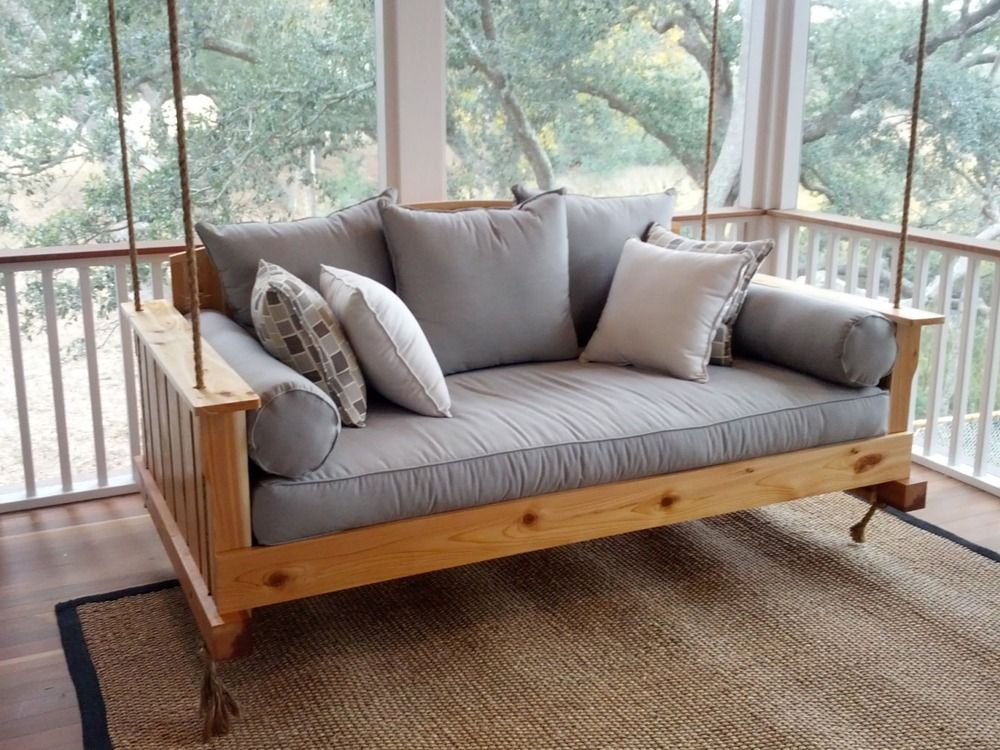 Comfortable Swinging Bed The Best Wood Furniture Futon Wooden