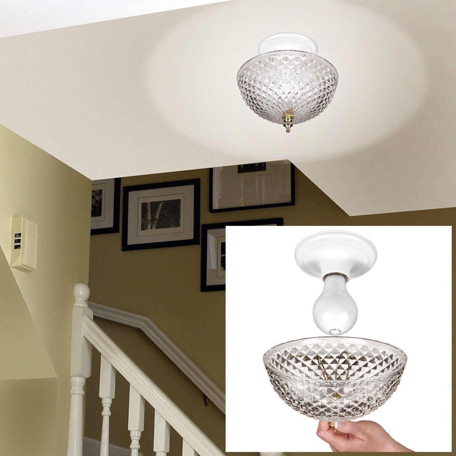 Clip-on Light Shade - Diamond Cut Acrylic Dome Lightbulb Fixture ... for Diy Acrylic Lamp  34eri