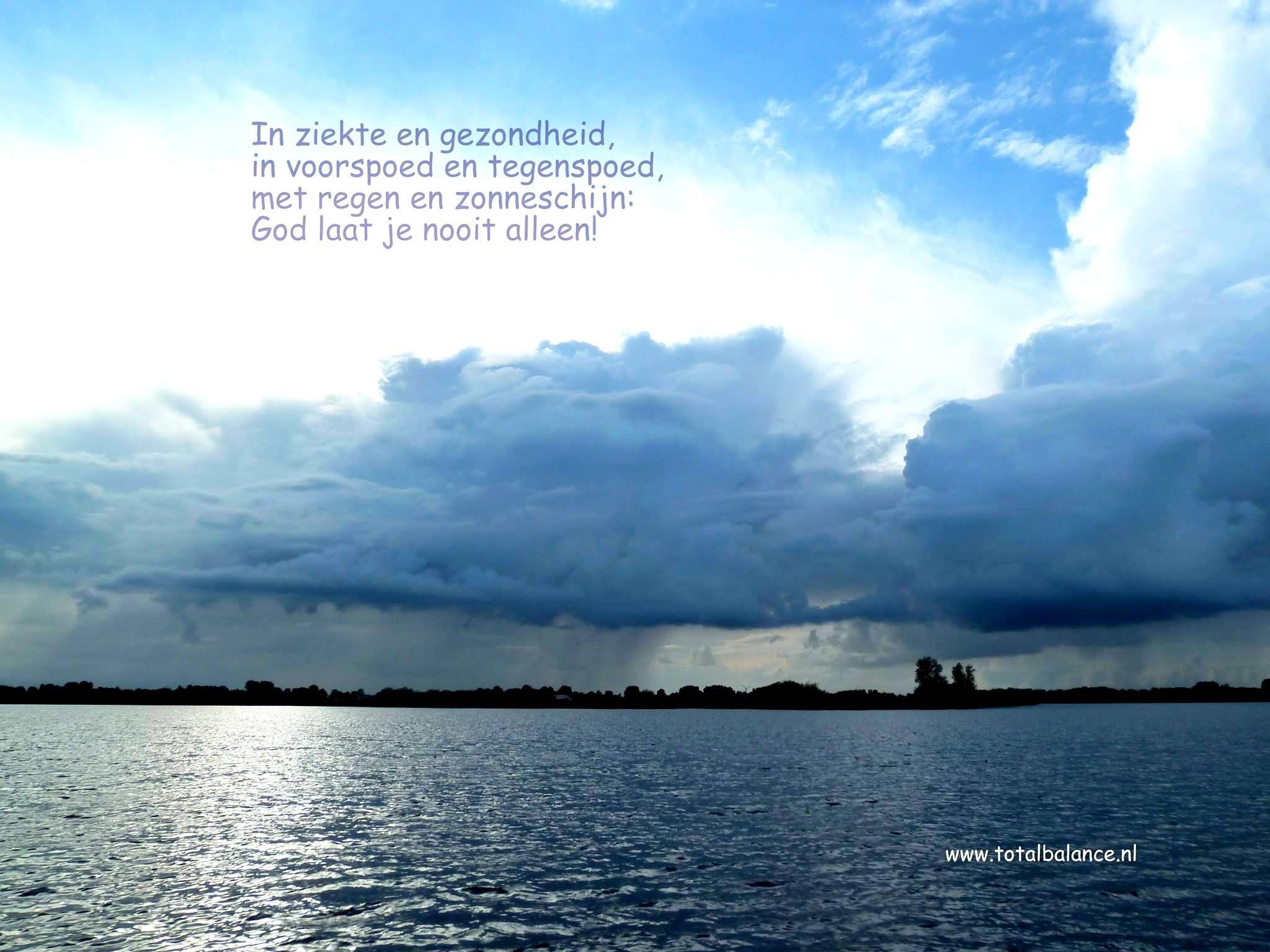 Regen En Zonneschijn : In ziekte en gezondheid in voorspoed en tegenspoed met regen en