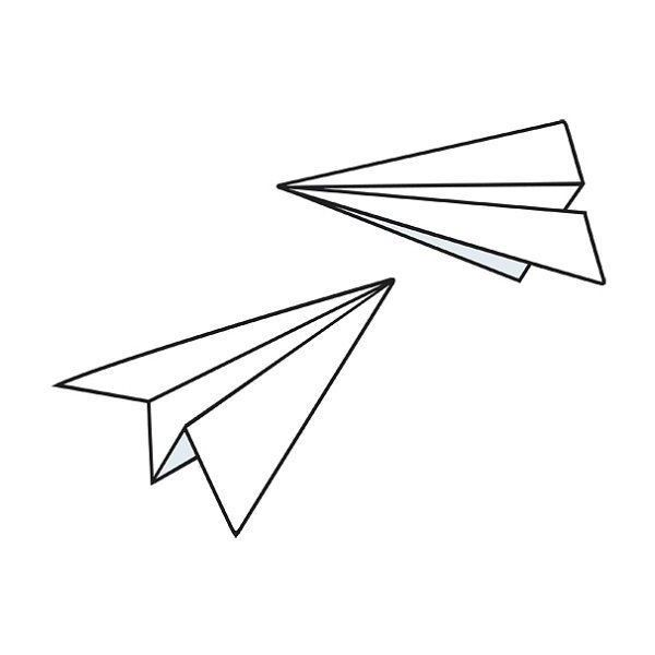 Possible tattoo idea??? Paper planes... Cute... | PLANTILLAS CARVADO ...