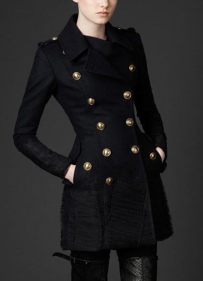 Manteau Rouge Style Officier