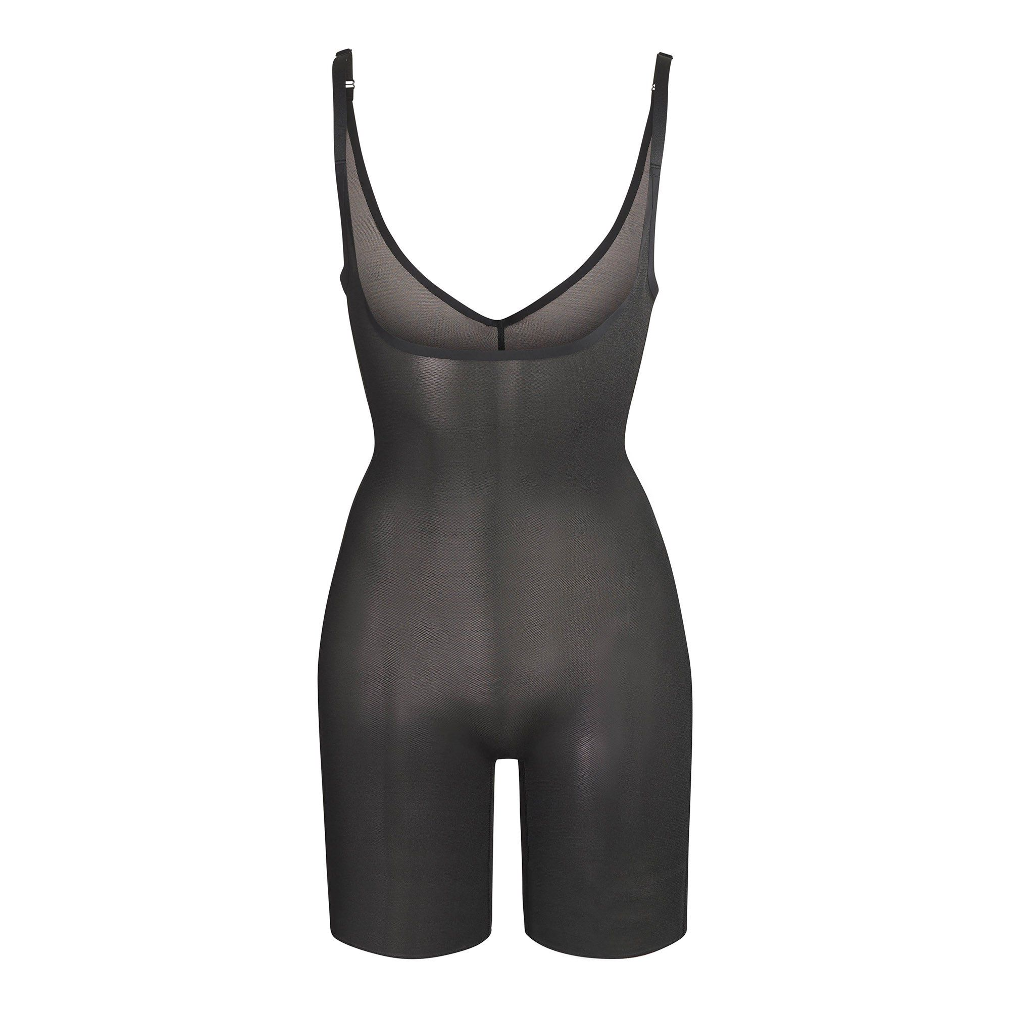 SKIMS Mesh Sheer Sculpt Bodysuit Shapewear - Black