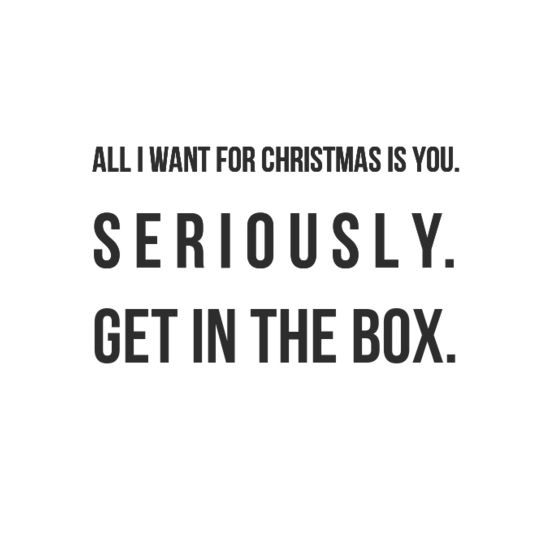 The Kind Of Thing You Would Say With A Straight Face Or You D Climb In The Box Christmas Quotes Funny Christmas Quotes For Friends Friends Quotes