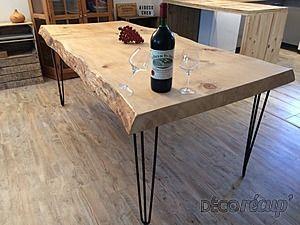 Table En Chene Brut.Epingle Par Aude Sibert Sur Salle A Manger En 2019 Table
