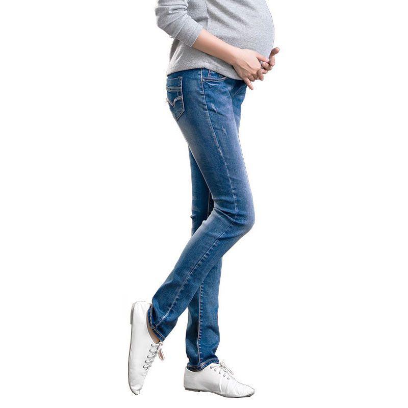 bb62655d98 Elastic Waist Denim Cotton Maternity Jeans Pants For Pregnancy Clothes  Pregnant Women Legging Autumn Winter Plus Size