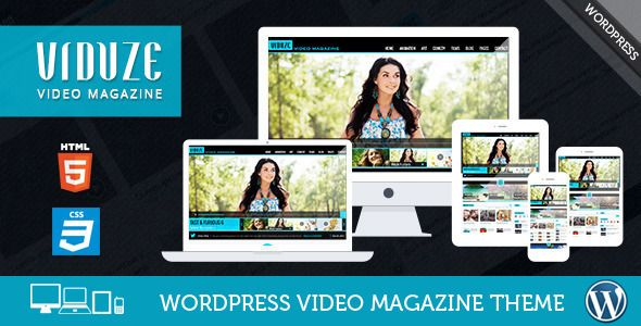 Viduze - Video WordPress Theme | Wordpress, Wordpress theme design ...