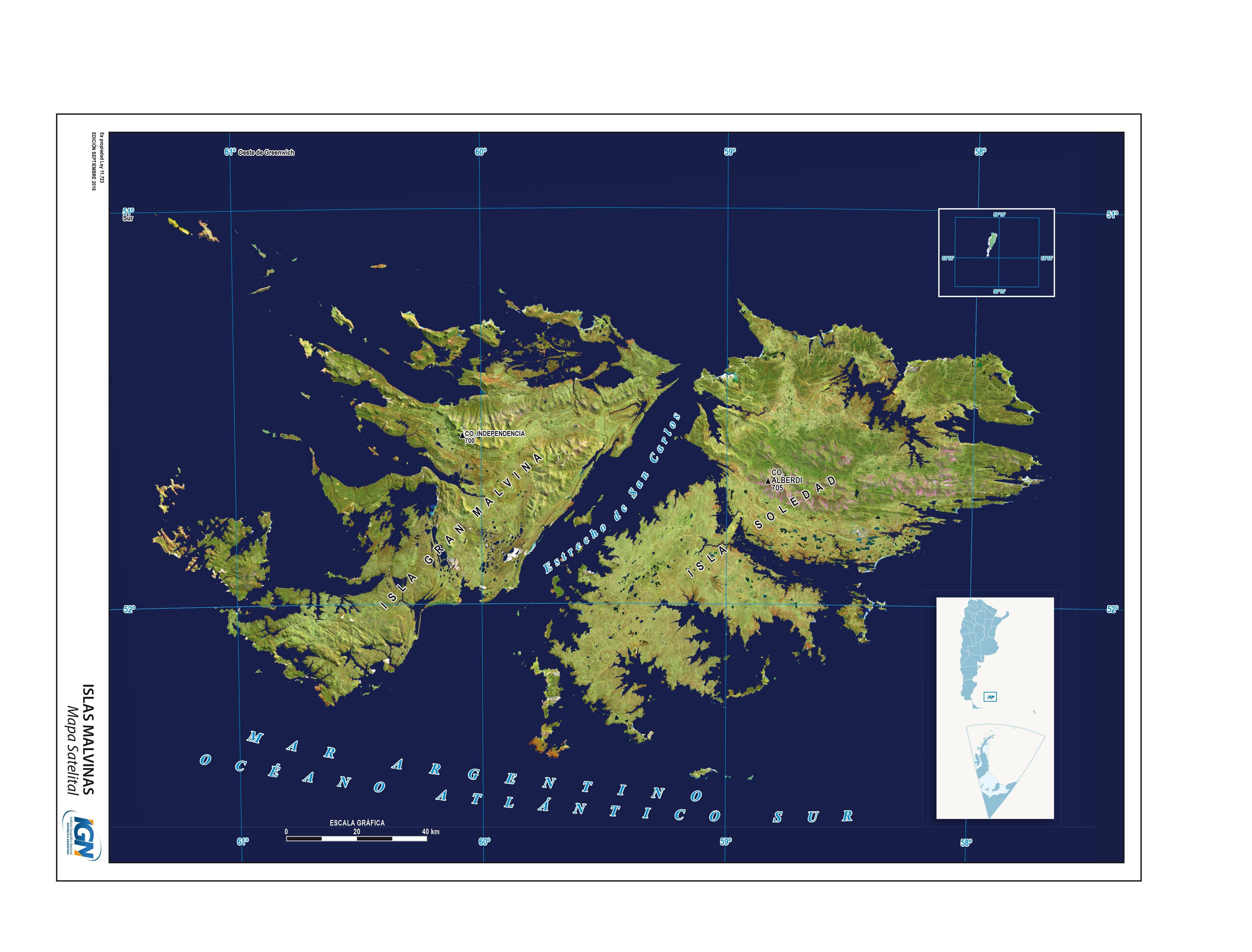 Mapa Satelital De Las Islas Malvinas Instituto Geografico Nacional De La Republica Argentina Mapa De Fantasia Mapa Escolar Mapas