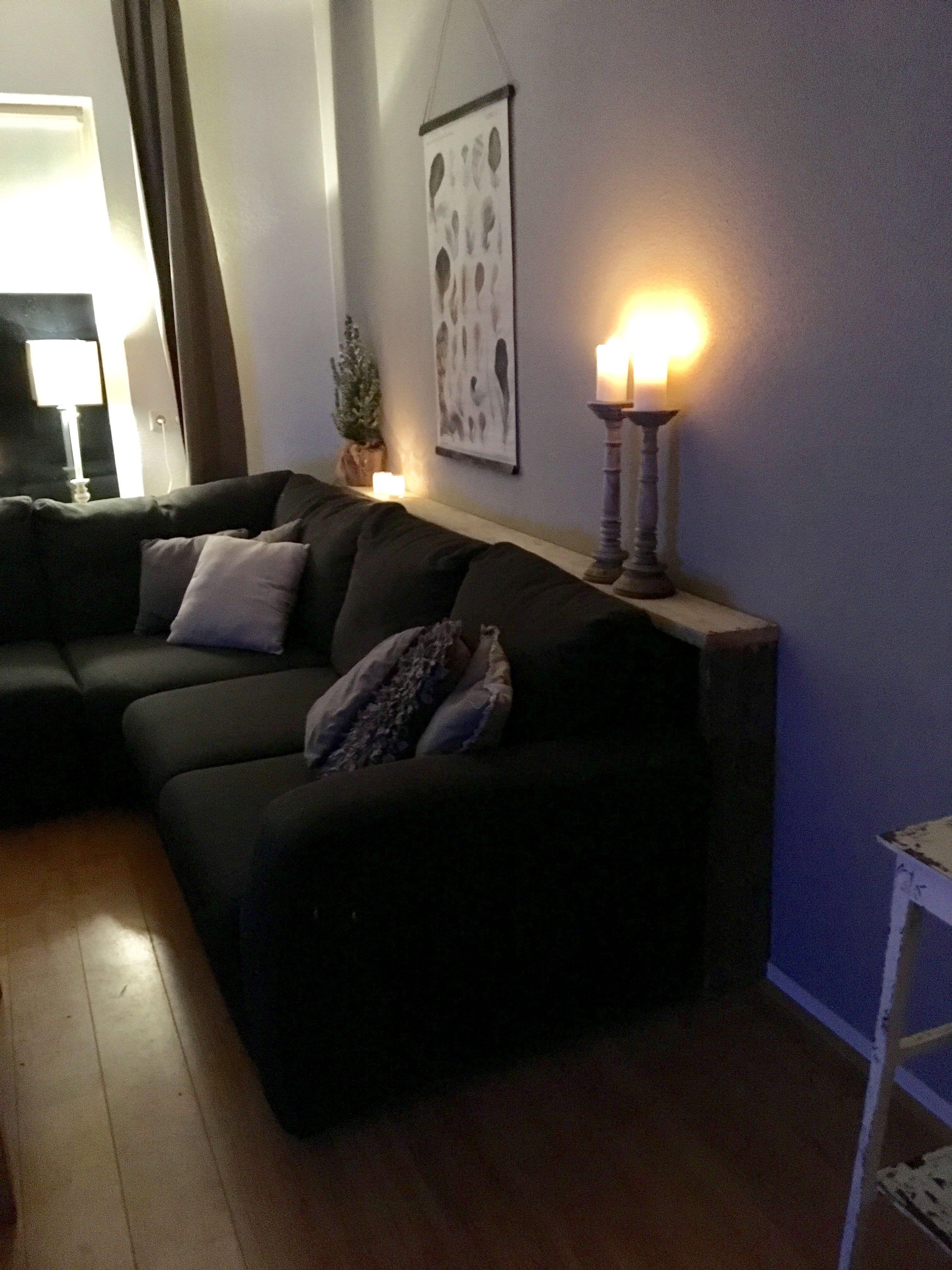 Beroemd Leuke sidetable achter de bank! | Huiskamer - Living room decor @RO02