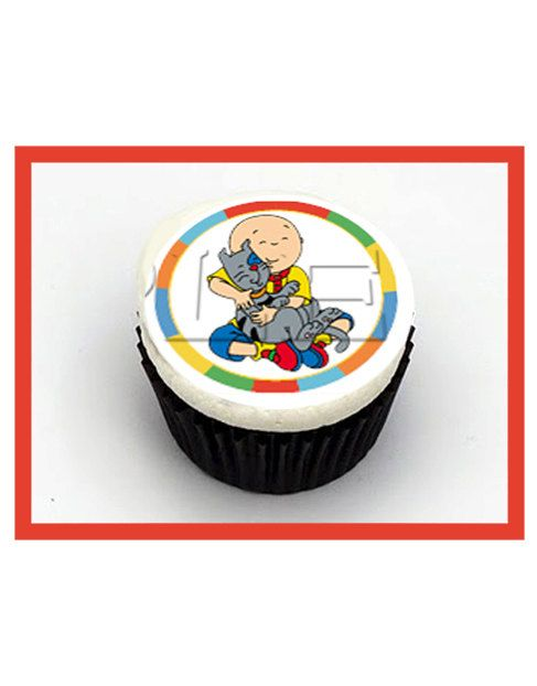Caillou Edible Cupcake Toppers by ItsEdible on Etsy Caillou