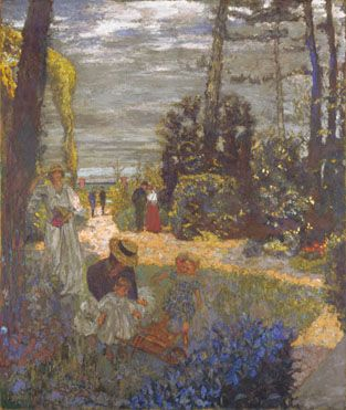 The Terrace at Vasouy, the Garden  1901, reworked 1935, Edouard Vuillard.