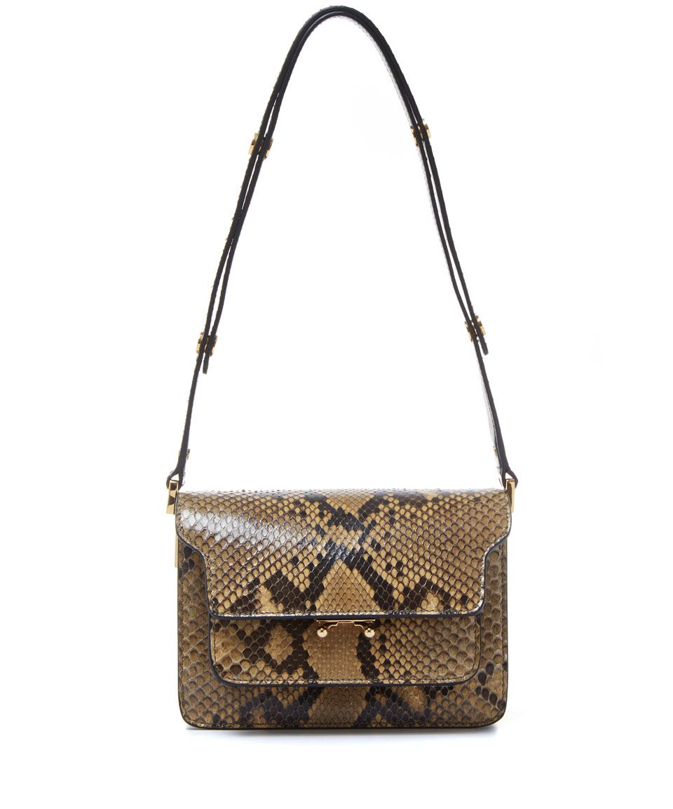 Marni Small Brown Trunk Python Bag Accessories Liberty Co Uk