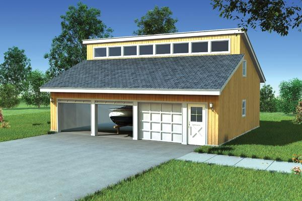 Contemporary ranch garage plan 6008 best garage plans for Modern garage plans with loft