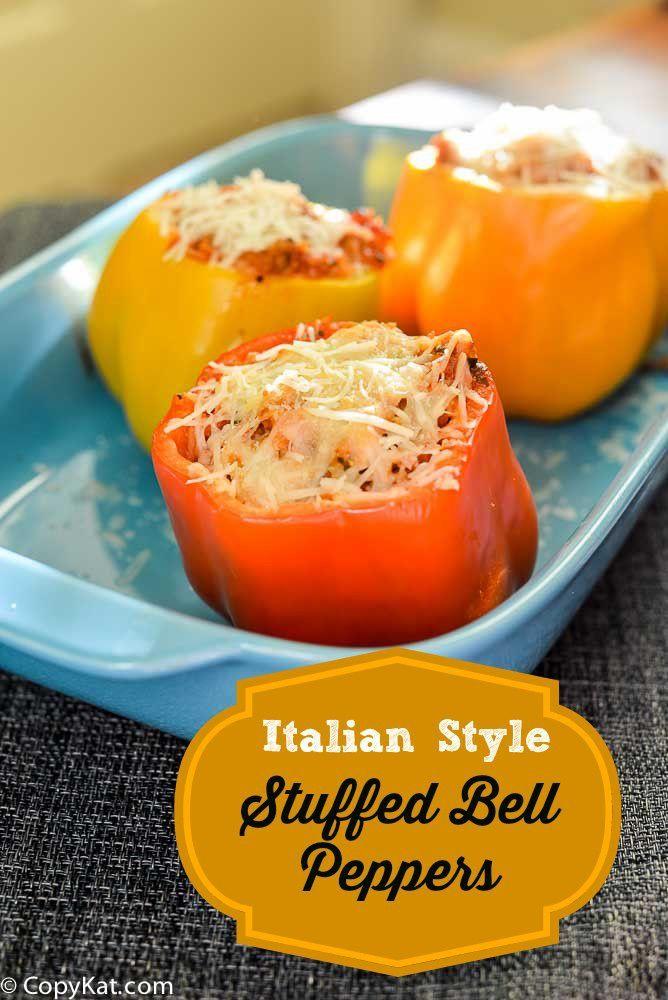 Italian Style Stuffed Bell Peppers Recipe Stuffed Peppers Stuffed Bell Peppers Recipes