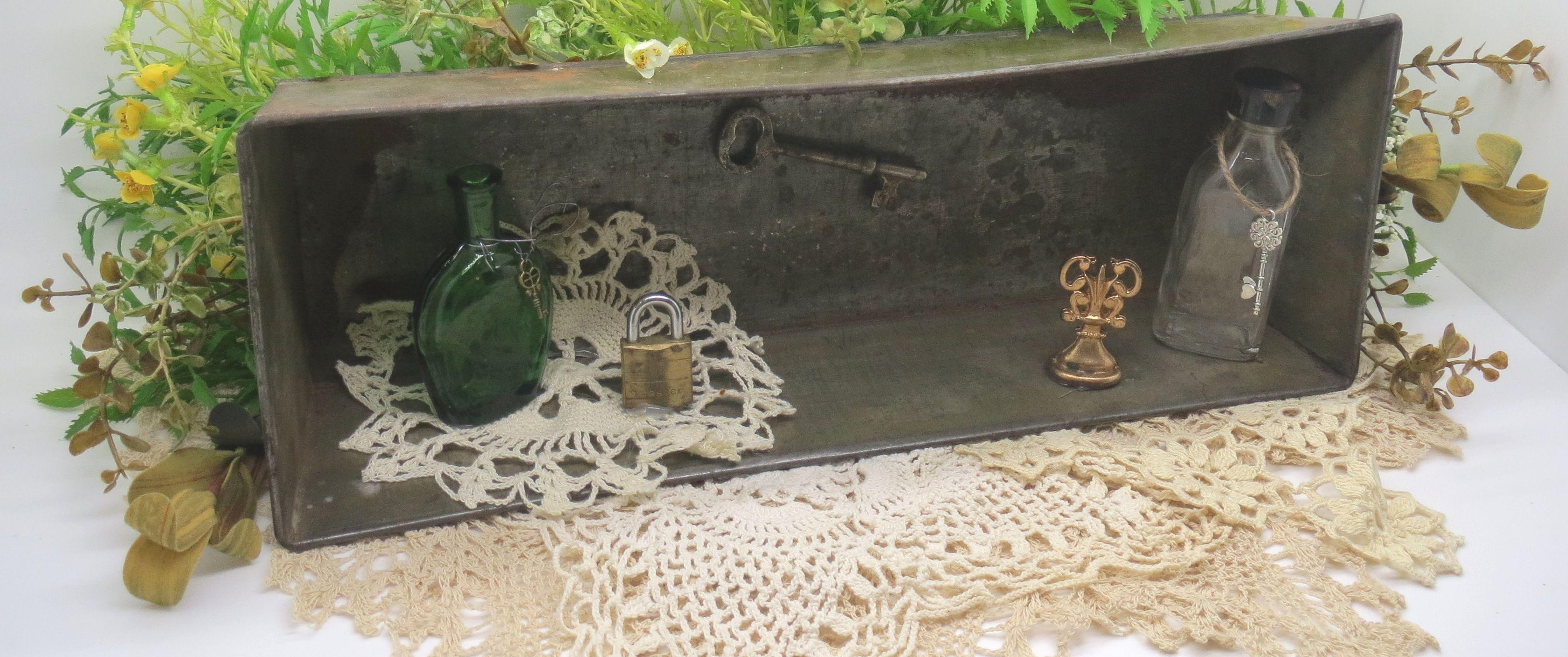 vintage shadow box