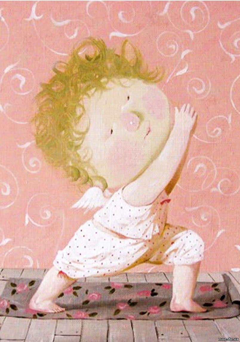 Картинки с добрым утром забавные ангелочки