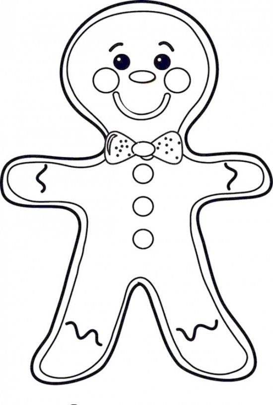Free Printable Gingerbread Man Coloring Pages For Kids | ♢Christmas ...
