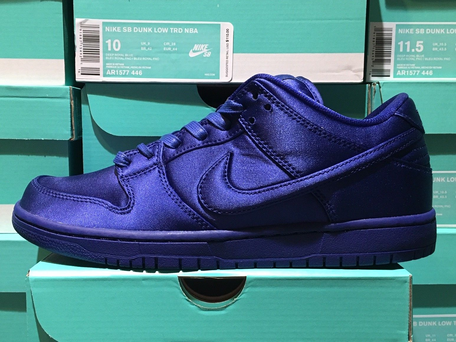 hot sales 7ed57 93d18 Nike SB Dunk Low TRD NBA Deep Royal Blue AR1577-446 Sizes 7-15