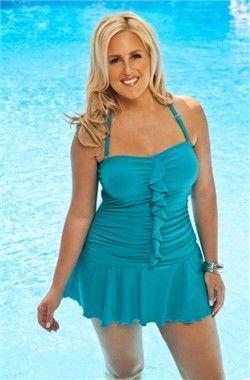 98736b424b Plus Size Swimwear - Always For Me Chic Valencia Ruffled 1 Pc Swim ...