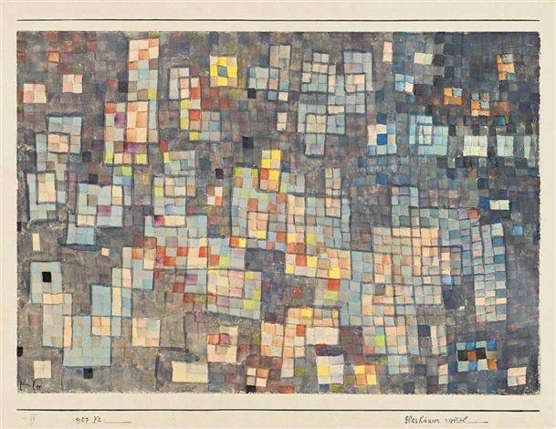 1927 Glashäuser viertel by Paul Klee