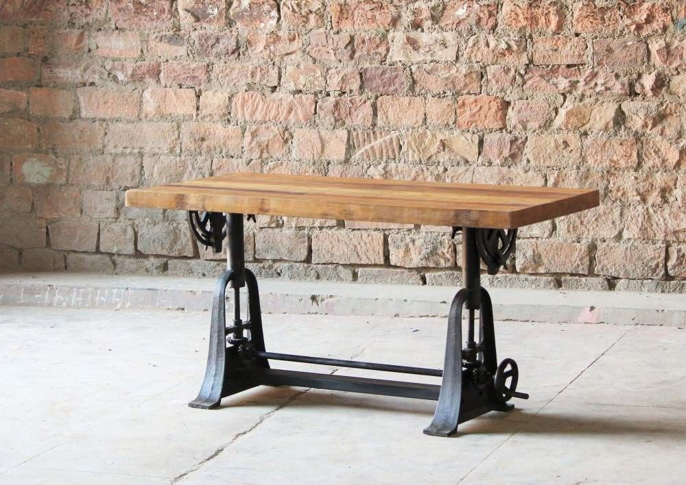 Hyatt Fulton Industrial Adjustable Height Draftsman Table