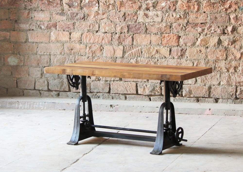 Hyatt+ +Fulton+Industrial+Adjustable+Height+Draftsman+Table