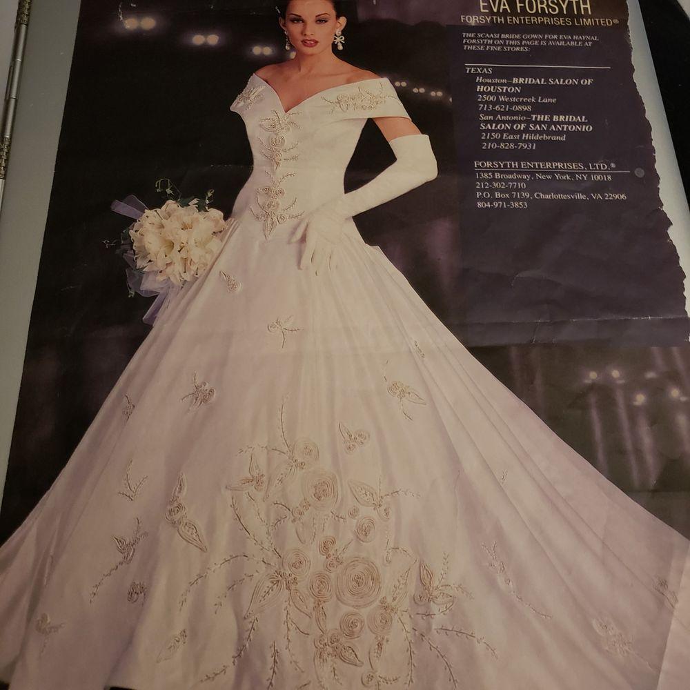 Designer Wedding Dress Arnold Scaasi Italy Gorgeous Pearl Bead