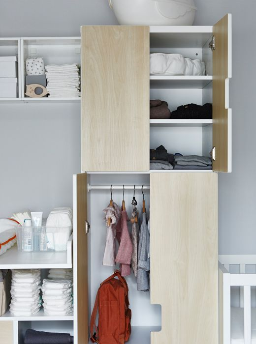 A Wardrobe With Hanging Space For Babies Clothes Meubles De