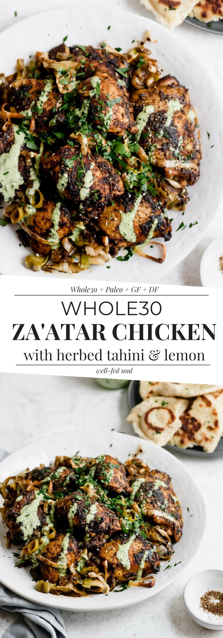 Weeknight Roasted Za'atar Chicken with Herbed Tahini & Leeks images