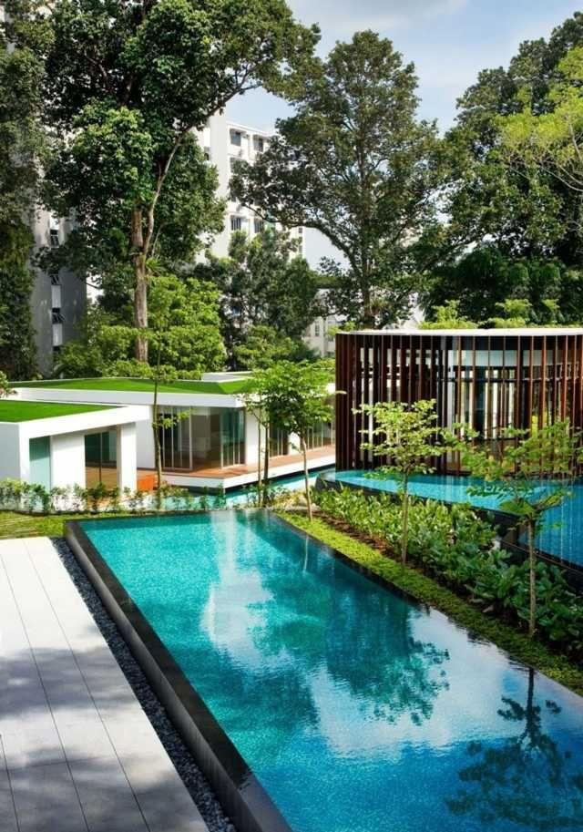 haus moderne architektur pool design ideen exotische reiseziele - Hinterhof Mit Pooldesignideen