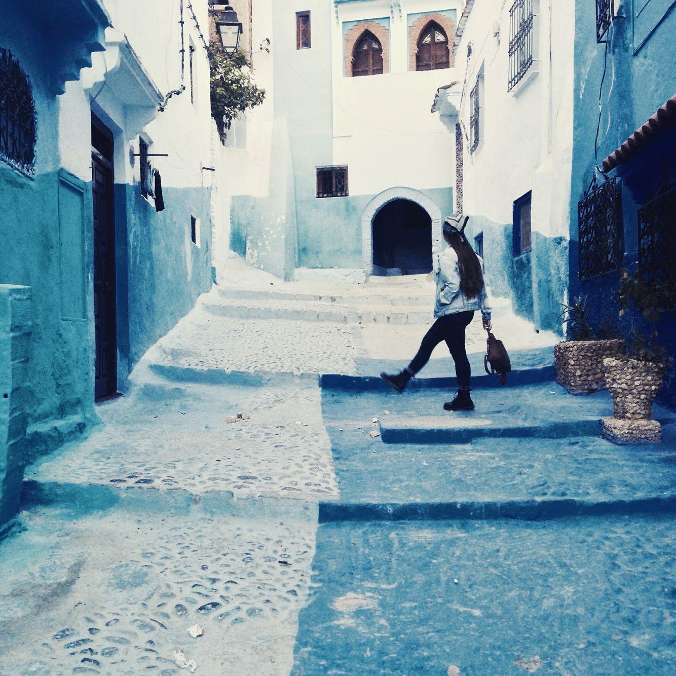 Wondering around Chefchauen, Morocco. Blue everything!