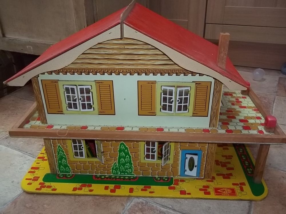 Vintage Wooden Dolls House By Gee Bee Toys Of Hull East Yorkshire