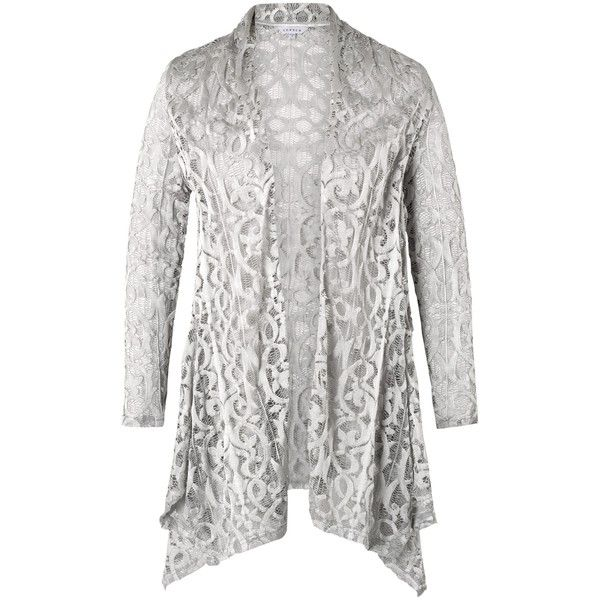 Chesca Stretch Lace Shrug, Silver Grey ($190) ❤ liked on Polyvore ...