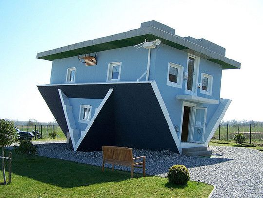 Upside Down Houses Upside Down House Unusual Homes Crazy Houses