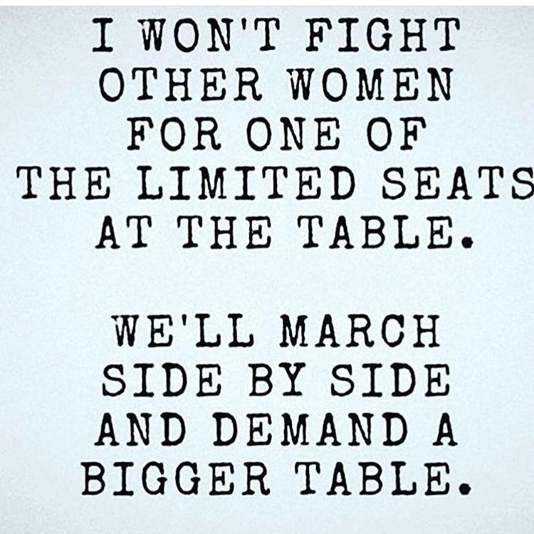 Demand a Bigger Table
