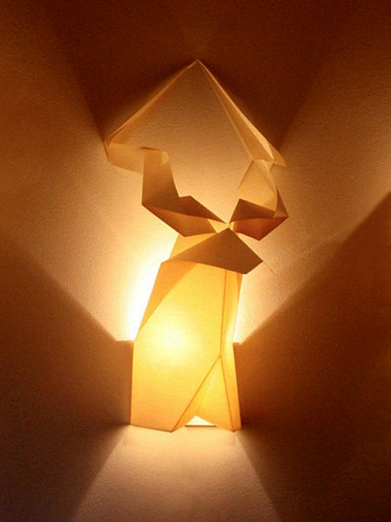 Inventive Lighting Thought With Origami Wall Lamps And Fixtures ...
