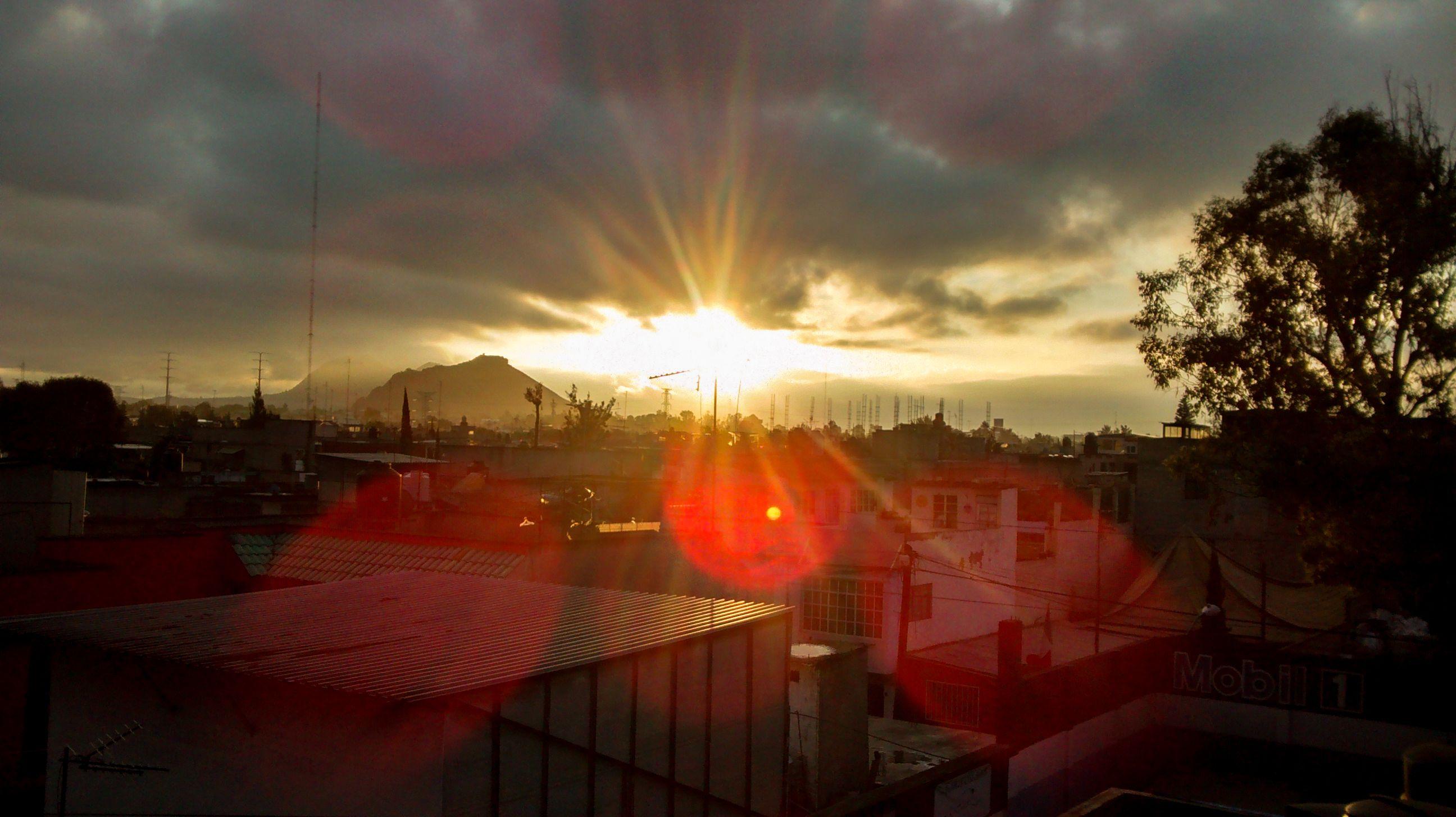 shine, sunset, city, distrito federal, mexico, clouds, sun, amanecer, luz, sol, ciudad, nubes