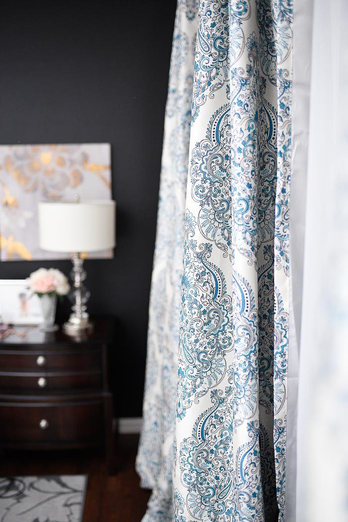 Best Navy White Master Bedroom Refresh White Curtains 400 x 300