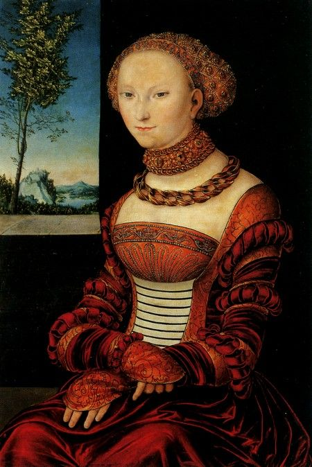 Sibylle von Kleve-Jülich-Berg, older sister of Anne of Cleves, and William, Duke of Julich-Cleves-Berg. Sybille married the Elector of Saxony John Frederich I in 1526. She converts to Lutheran ideas and becomes a frequent correspondent with Matin Luther. Lucas Cranach, the court painter, uses Sybille as his muse for religious works of art commissioned by her husband. Their marriage appears to have been devoted and one of mutual respect, with Sybille managing the court in her husband's…